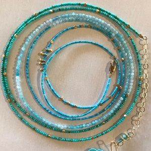 MultiWrap bracelet or multi wrap necklace. Layered